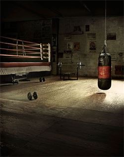 This is an image of an old boxing gym Hometown Heroes Boxing .
