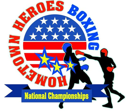 This is an image of the national hometown heroes boxing championships logo.